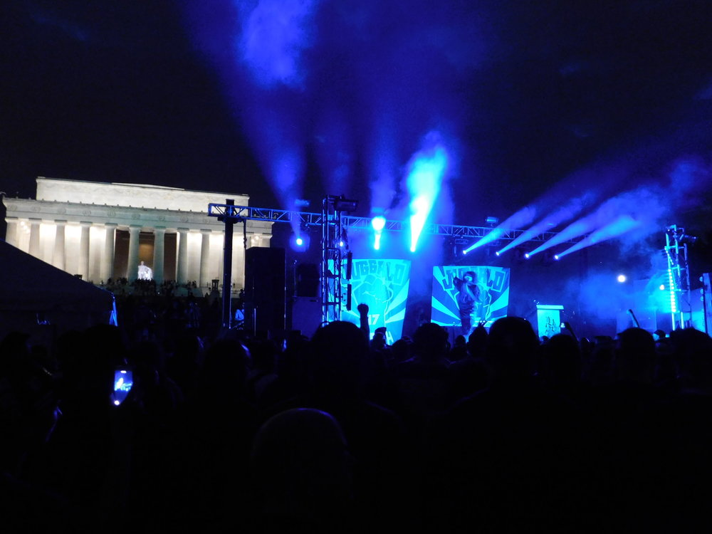 Big Hoodoo performing on the National Mall.