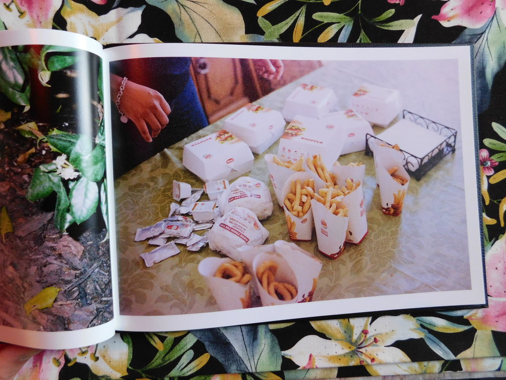 Foods  (interior) (2017), artist book. Photo by the author.