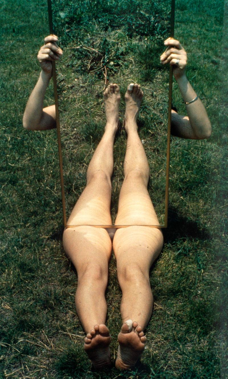 Joan Jonas,  Mirror Piece I  (1969)