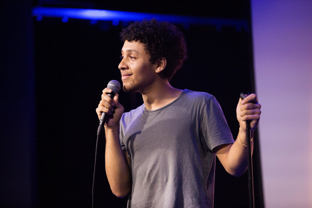 Jaboukie Young-White  performing at Rachel Joravsky is the Thirsty White Ally, 6/20/17, Littlefield, Brooklyn, NY,Photo: Mindy Tucker