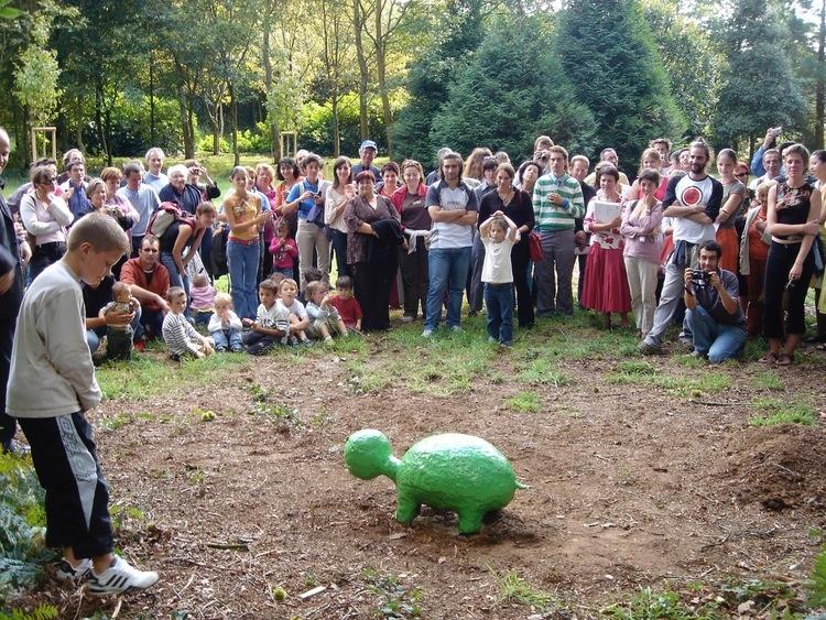 Social practice artist Harrell Fletcher's    Corentine's Turtle    (2006),Domaine De Kerguehennec, Brittany, France