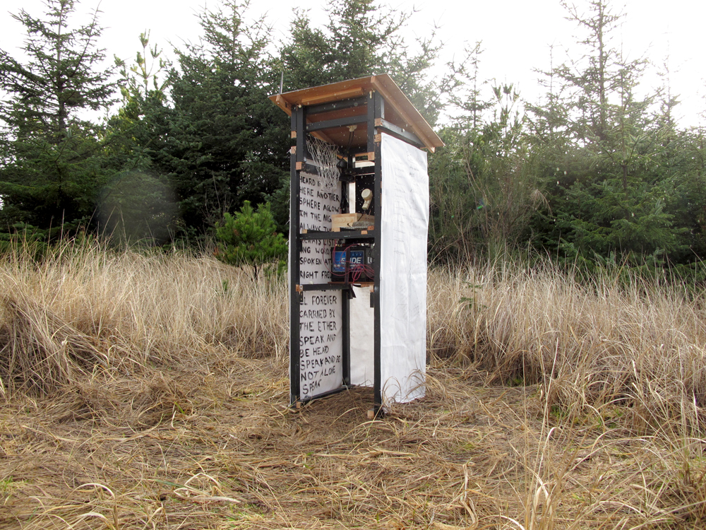 Beacon (2017), a solar-powered radio transmission station produced for Spaceness at the Sou'wester in Seaview, WA