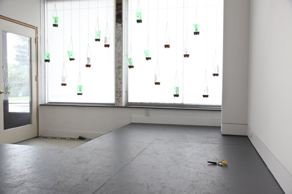 "Installation view of Derek Tyler Franklin's  ""waiting around to inhale""  (2017) at Anytime Dept., Cincinnati, OH. All images courtesy of Anytime Dept."