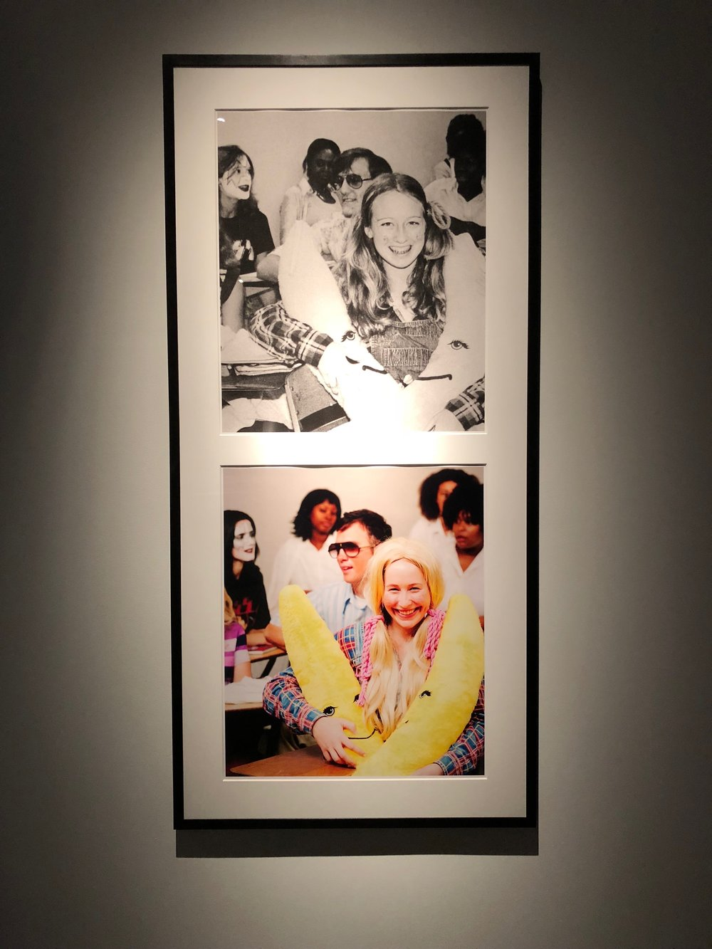 Mike Kelley, Extracurricular Activity Projective Reconstruction #8 (Singles' Mixer), 2004-2005, Mixed media with video projection and photographs, 112 x 300 x 169 inches. Photo by the author.