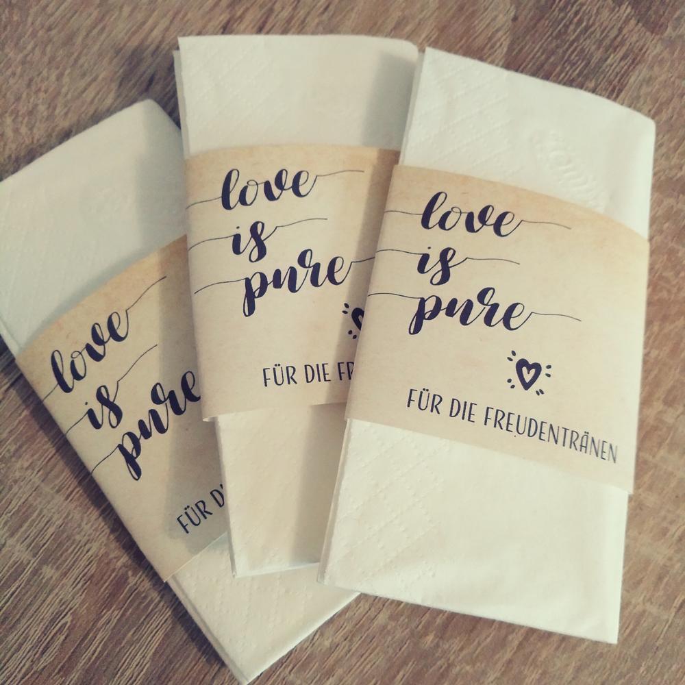 - love is pure …GIVEAWAYS … für die Freudentränen