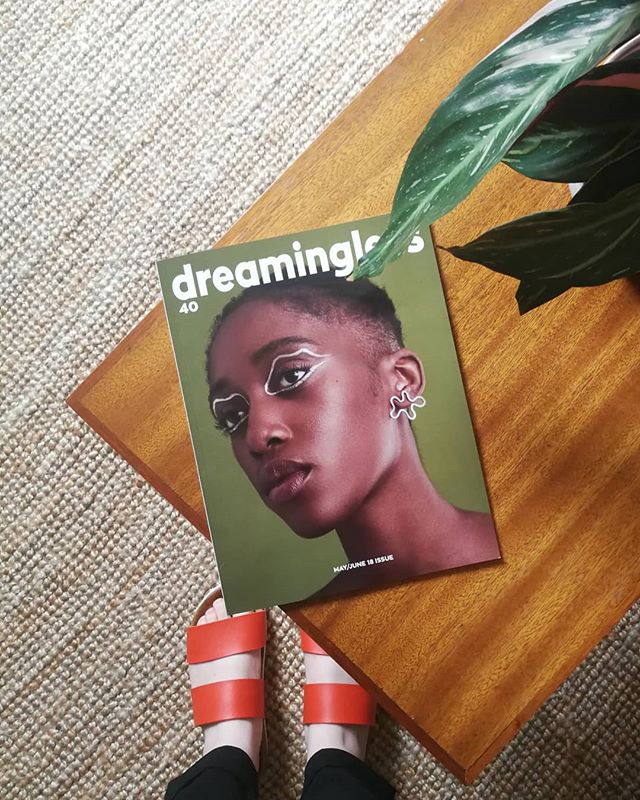 Good post day! My print copy of @dreamingless arrived and doesn't @alicechandlerjewellery 's wiggle earrings look stunning on the front cover!  So happy to see my jewellery in print for the first time ever, and extra special to be printed alongside a fellow Yorkshire maker 💪 Check out my Stories to see my pages 🤭