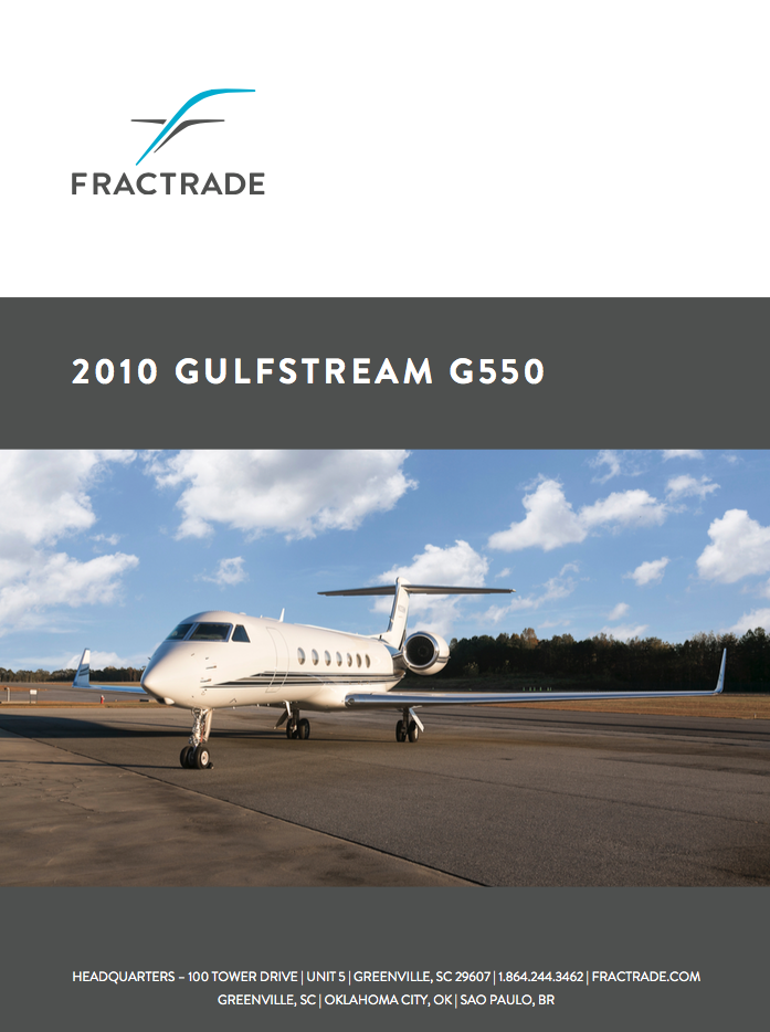 G550 lease by Fractrade