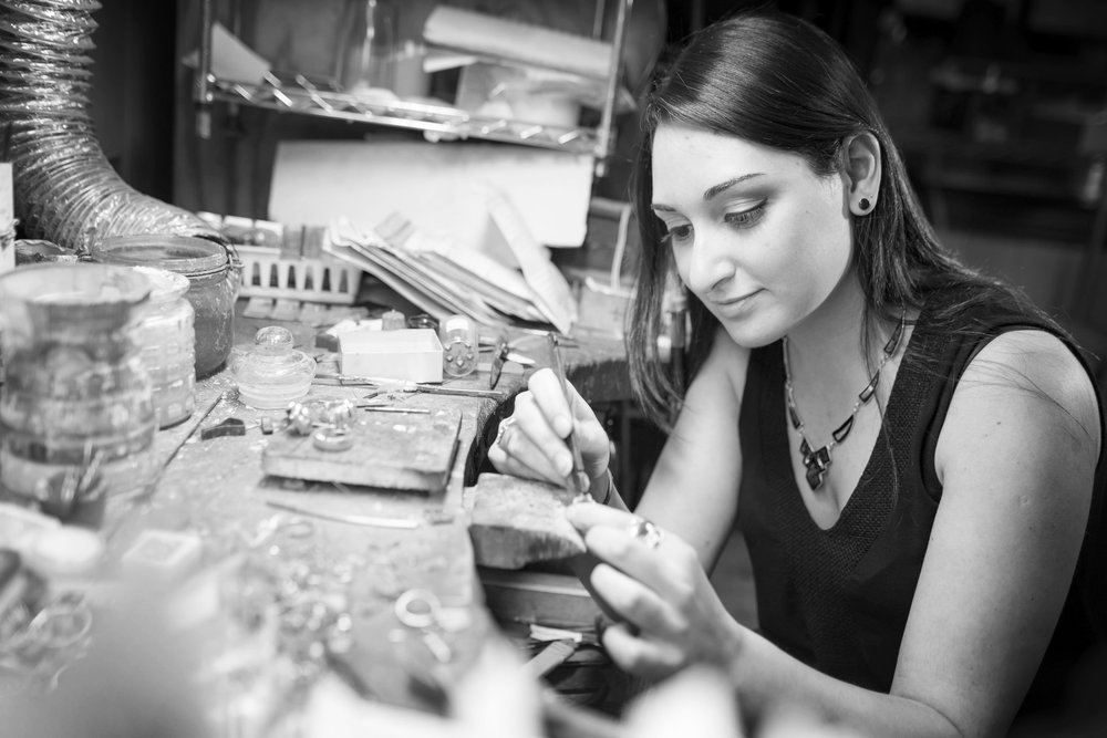 Ana Tkabladze: Jewelry Designer and Assistant Manager.