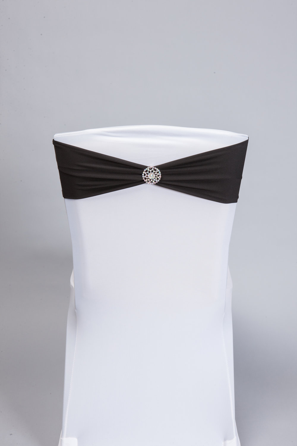 Black Spandex Band with Silver Bling Pin