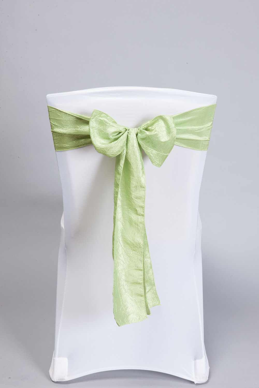 Apple Green Crinkle Taffeta