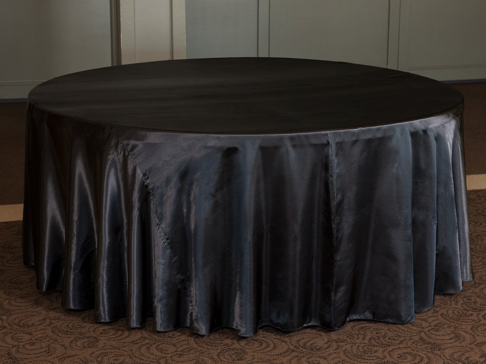 exceptional Black Satin Tablecloths Part - 6: Black Satin
