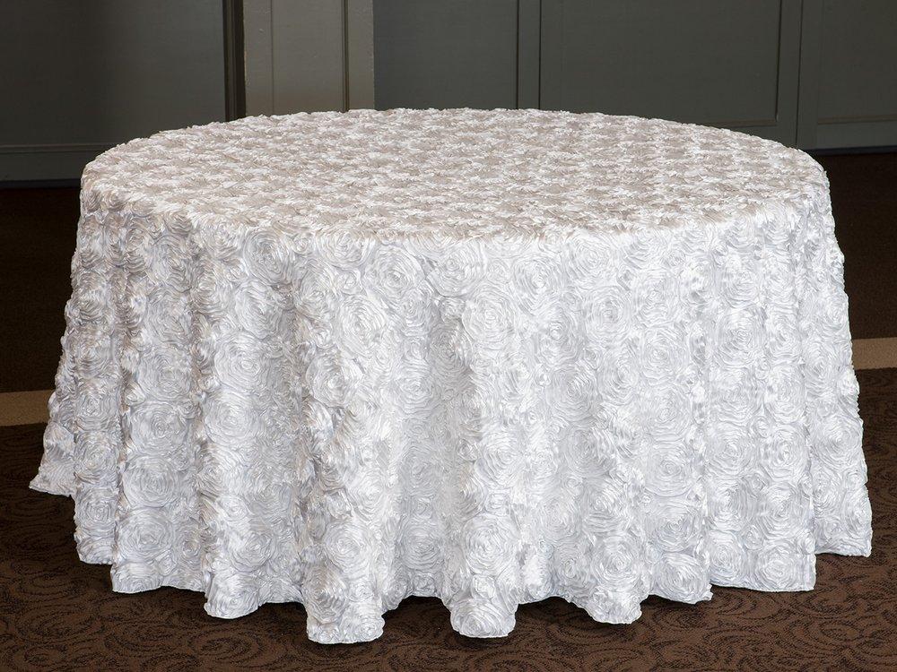 Pinchwheel Tablecloth Part - 18: Bridal Rose Satin