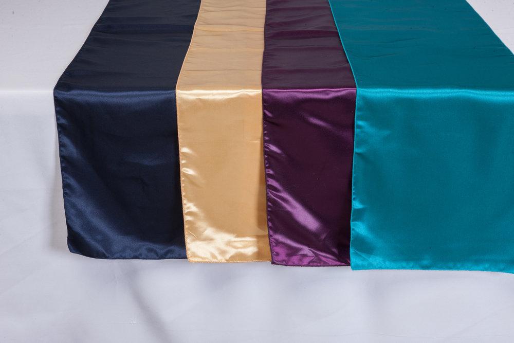 Navy, Gold, Eggplant, Turquoise Bridal Satin