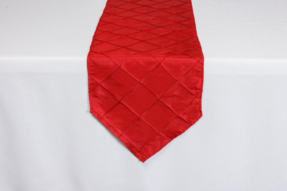 Red Pintuck Taffeta