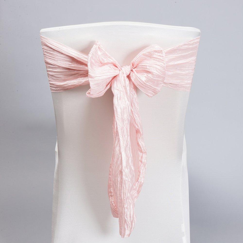 Blush Pink Accordion Taffeta