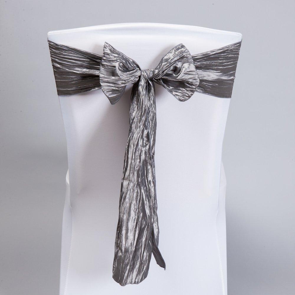 Charcoal Gray Accordion Taffeta