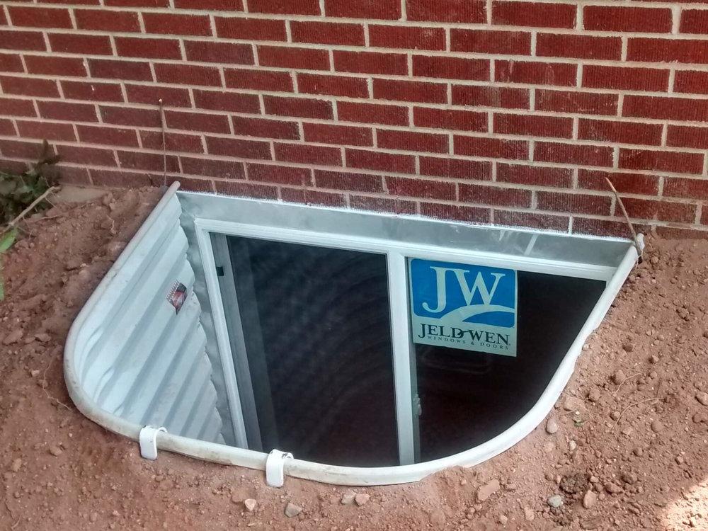 Brick basement window wells Basement Remodel New Window Well And Basement Window In Colorado Copy 2jpg Thecreationinfo Basement Escape Basement Egress Window Installation In Colorado