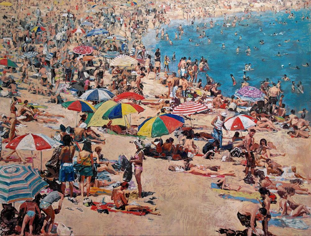 été 2012, Barcelone (plage), 2016