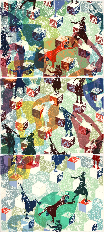 Longtemps l'errance: triptyque E / Wandering: triptych E, 2011