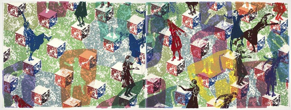 Longtemps l'errance: diptyque G / Wandering: diptych G, 2011