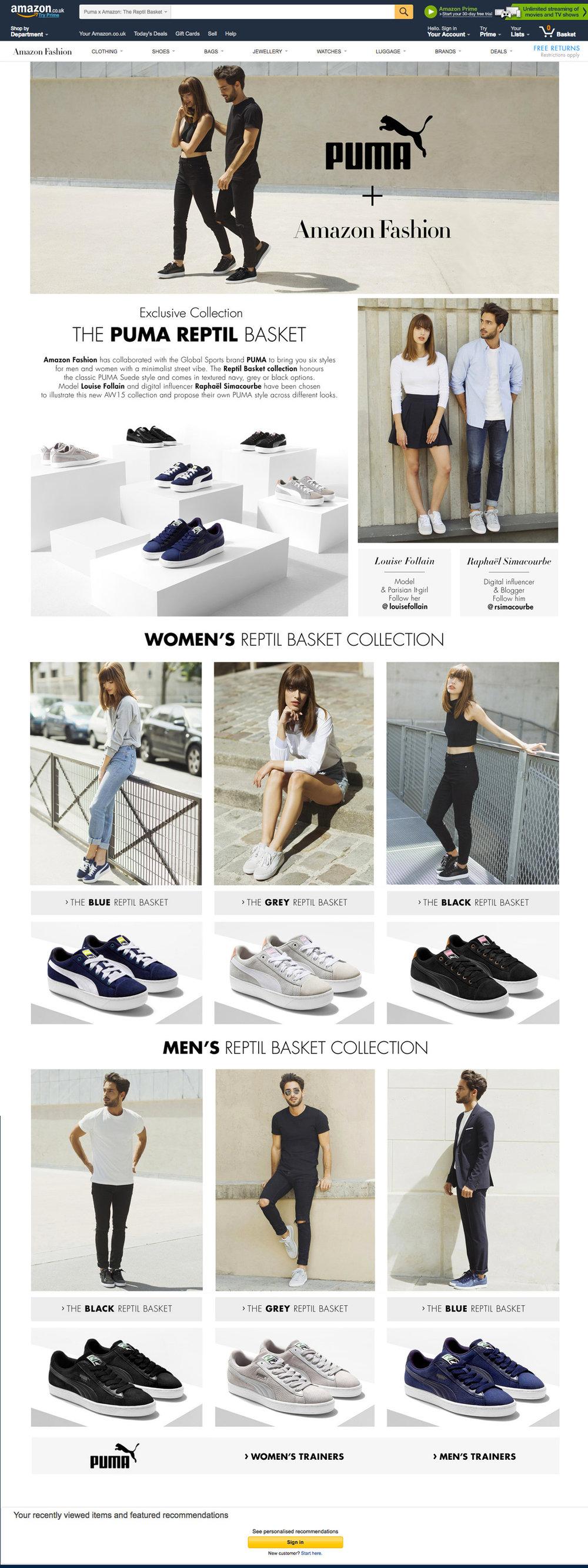 PUMA X Amazon Fashion