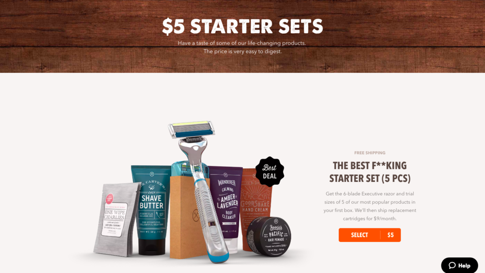 Photo from  Dollar Shave Club