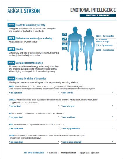 Emotional Intelligence Process     (PDF) Process emotions and capture any wisdom