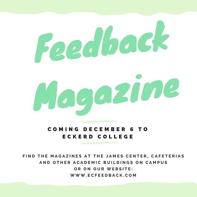 The countdown begins!! TEN DAYS until our second Feedback Magazine publication! For the next 10 days, we will be posting short excerpts from the articles in the upcoming publication. Stay updated by liking our Facebook page as well! All articles will be available around campus and on our website (www.ecfeedback.com) Wednesday, December 6.
