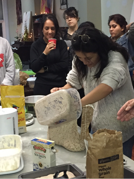 We loaf organic bread! - We had a fun night learning about the basics of making bread! From caring for a sourdough starter to making the bread, the journey was educational and exciting. And the best part was that we got to go home with fresh and delicious organic bread!