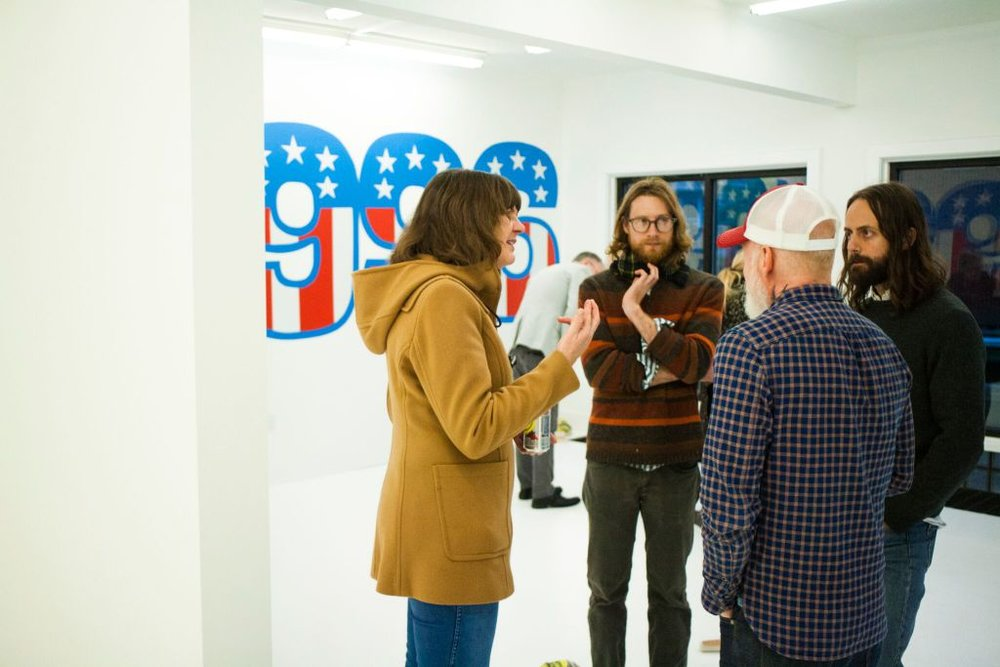 At the opening of Jack Early's exhibition, The Suburban Riverwest, Spring 2016 /Photo: Joel Cash