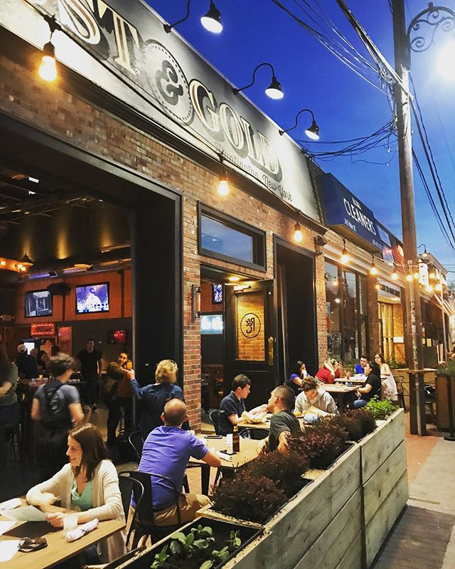 A cool spring night and the revamped patio's bumpin. Come hang! #rustandgold