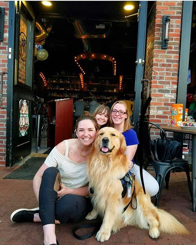 Warm weather means a new season of #rustdogs, and who better to kick it off then the OG, @tuckerthemonstah!! All your good boys and good girls are welcome in our patio area, let us fill up their R&G water bowl and come hang! #rustandgold