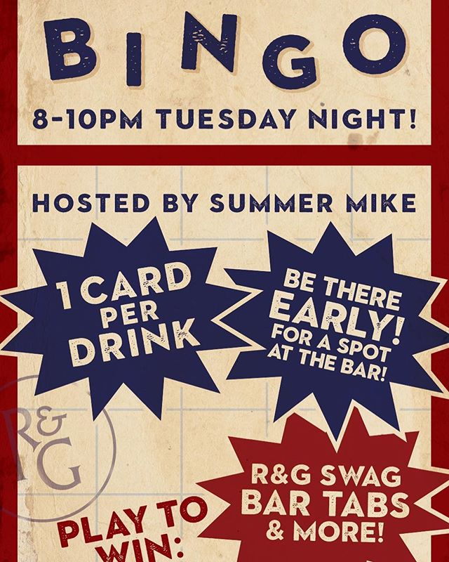 It's Tuesday and man is it a beaut!!! What better way to get fired up for BINGO! The garage doors will be up and that cool evening breeze will carry the sweet voice of @some_are_mike calling out numbers for hundreds of miles in every direction! Better get there early and get your seat! See you at 8! #rustandgold