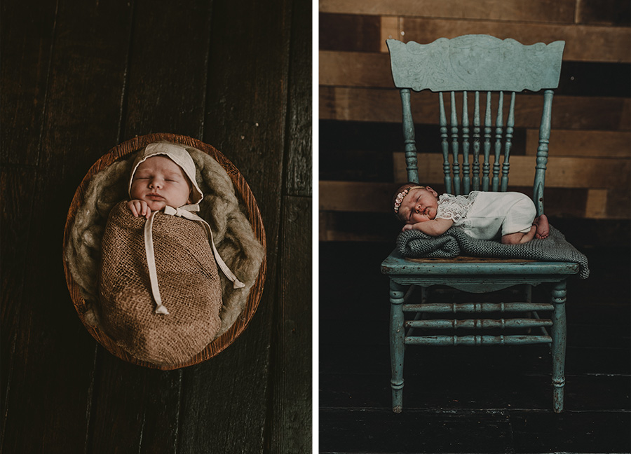 Farm, Rustic Newborn Baby Girl
