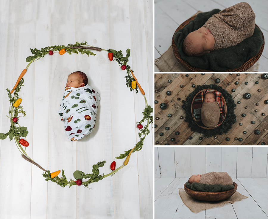 Rustic Farm Newborn Boy Session | Terry Farms Photography