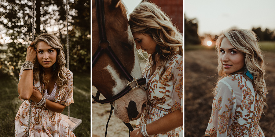 Boho Farm Sunset Senior Session [Terry Farms Photography]