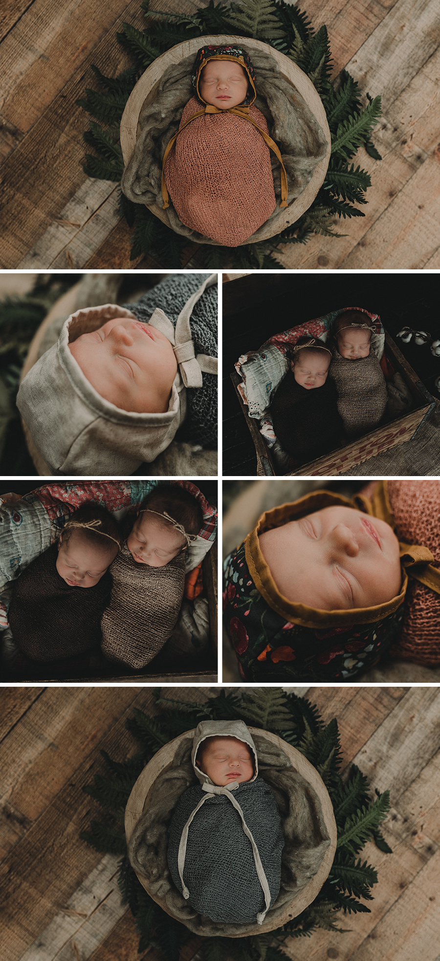 Rustic Twin Girl Newborn Session [Terry Farms Photography]