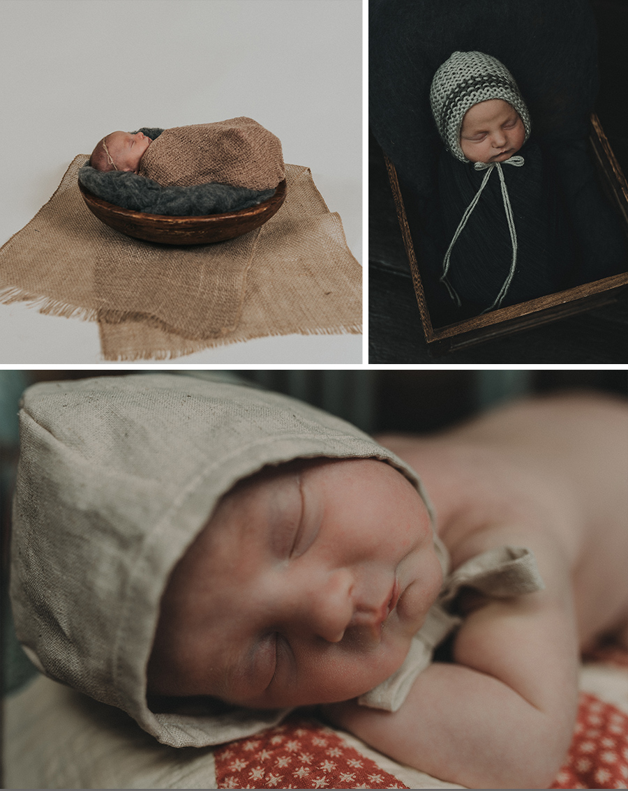 Vintage, Rustic Farmhouse Newborn Girl Photo Session [Terry Farms Photography]