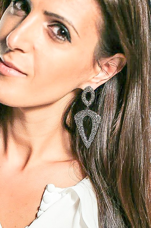Love love love these Pave drop earrings the way they sparkle creating a smoky look and rightfully named the Odyssey.