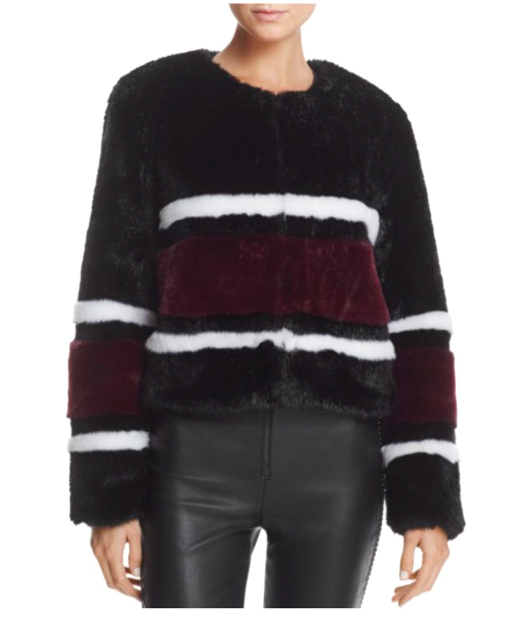 For all those black and white die hard fans, how about a stripe of Burgundy to add into the mix?  Bloomingdales