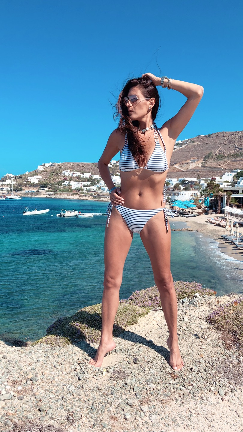 Life was a beach all day long. Bikini by Melissa Odabash found  here .