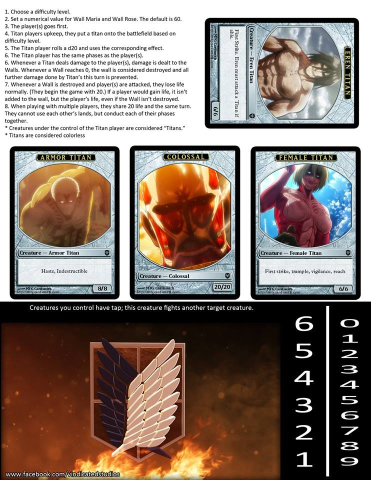 Attack on Titan x MTG