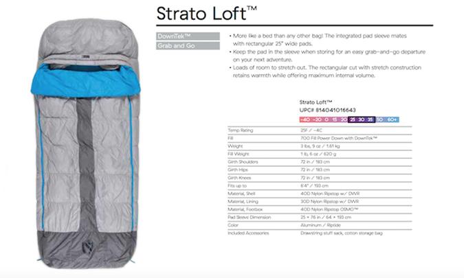 Nemo Strato Loft Sleeping Bag
