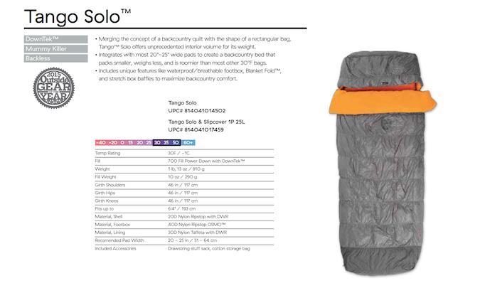 Nemo Tango Solo Sleeping Bag