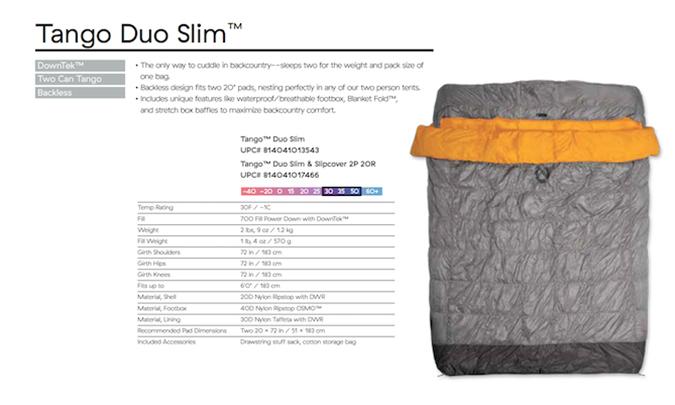 Nemo Tango Duo Sleeping Bag