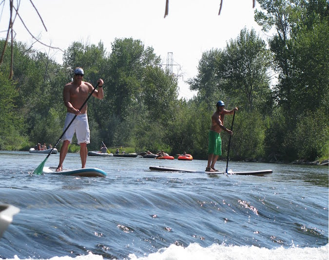 Paddle boards are welcome on the Boise River (Source: Boise Daily Photo)