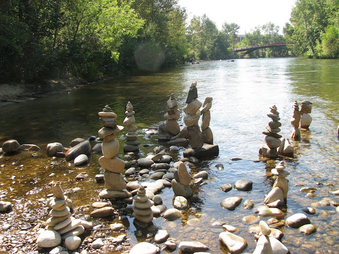 Rock sculptures are a tradition along the banks of the Boise River. (Source: Boise Daily Photo)