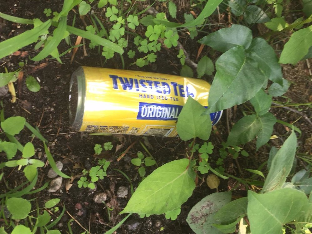 "Twisted Tea. The person tossing this out the window was a little ""twisted"" in doing it. Dave McGillivray"