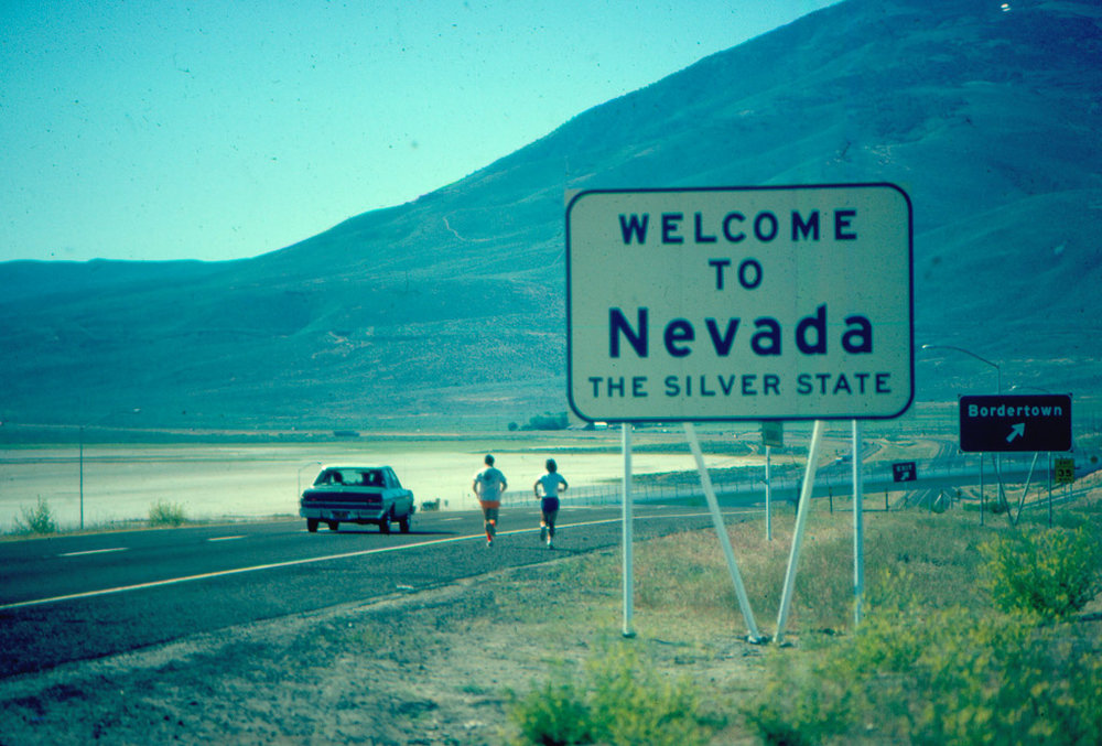 Entering Nevada and the desert – the point of NO RETURN.