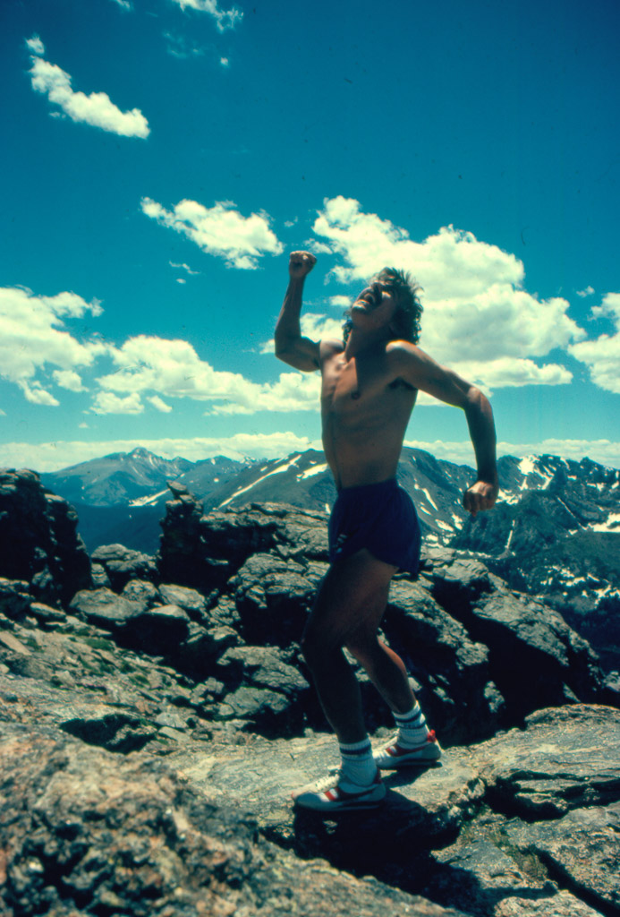 Being silly – Rocky at the Rockies.
